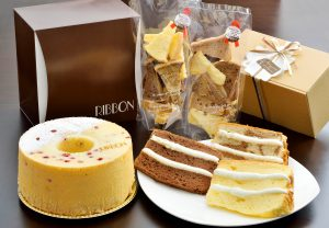 つくば市のシフォンケーキ専門店「RIBBON」のケーキ商品