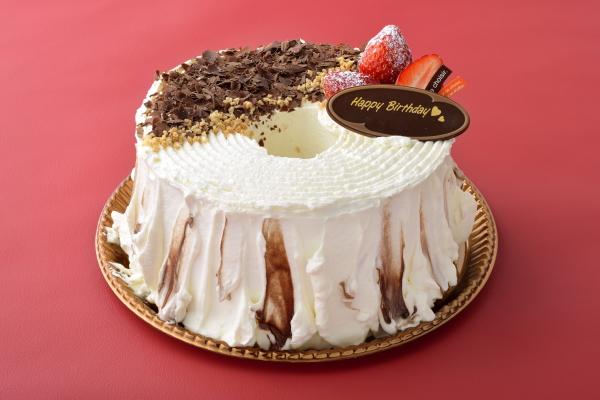 つくば市のケーキ屋さん「RIBBON」のバースデーケーキ(お誕生日ケーキ) チョコ&イチゴ