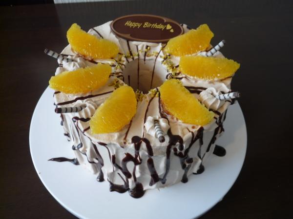 つくば市のケーキ屋さん「RIBBON」のバースデーケーキ(お誕生日ケーキ) チョコオレンジ