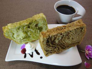 抹茶とコーヒーのシフォンケーキ つくば市のケーキ店